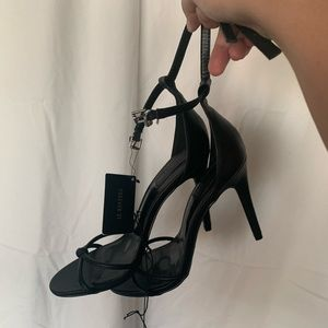 Forever 21 Black Strappy Heels